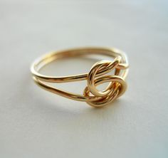 Love Knot 14K Gold Filled Ring by StreetBauble on Etsy