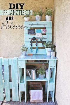 DIY Pflanztisch aus Paletten