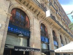 This caught my eye while walking around in Barcelona. The many rounded arches resemble the Romanesque period, but also strike a resemblance to the bridges on the back of the Euro bills.