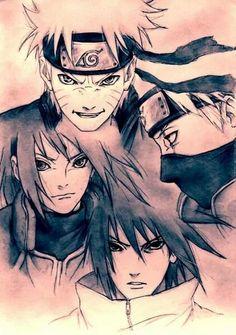 Team 7 reunites! Naruto, Sakura, Sasuke, and Kakashi