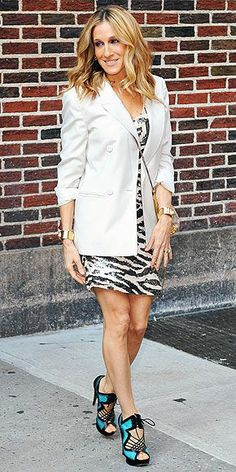 Jacket – Stella McCartney  Shoes – Nicholas Kirkwood  Dress – Blumarine Fall 2010
