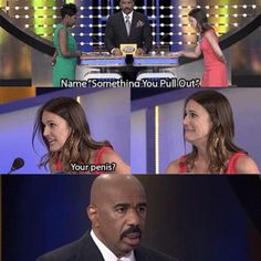 Family Feud is absolutely priceless. Can't help but love it...