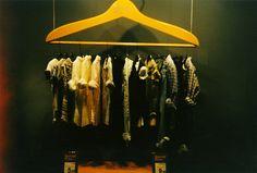one way to display hangers on the hanger that hold smaller hangers.....on a larger hanger that hangs....phew, pinned by Ton van der Veer