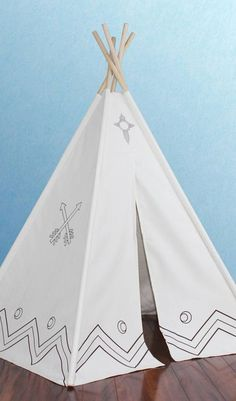 DIY inspiration-Canvas Color-Me Teepee Teepee Play Tent, Teepees, Teepee Kids, Canvas Teepee, Lightweight Tent, Little Girl Rooms, Dot And Bo, Baby Love, Kids Playing