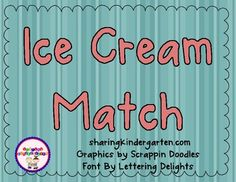 Match the cone and ice cream together as a fun way to practice reading sight words and practice rhyming words. There are 4 different sets and 1 b...