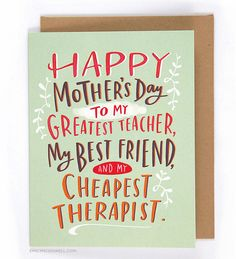 $4.50 Mother's Day card