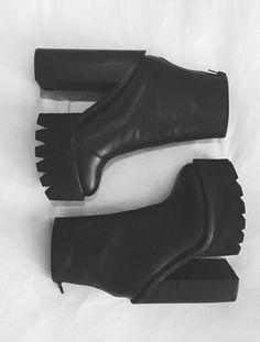 Chunky Heel Platform Booties