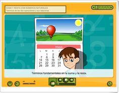 """""""Suma y resta con números naturales"""" (Aplicación interactiva de Matemáticas de Primaria) Sumo, Calendar Numbers, Maths Area, Addition And Subtraction, Teaching Resources, Platform, Learning"""