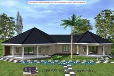 Round House Plans, Free House Plans, Small House Plans, House Roof Design, Bungalow House Design, 6 Bedroom House Plans, House Rooms, House Plans South Africa, Beautiful House Plans