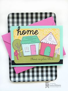 Make handmade cards with mix and match stamped houses using the House and Home + the Build A Home Stamp and Die sets from Lil' Inker Designs New Home Cards, Cute Little Houses, Paper Smooches, Heartfelt Creations, Penny Black, Card Making Inspiration, Card Kit, Masculine Cards, Cool Cards