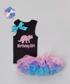 Loving this Purple & Teal 'Birthday Girl' Tutu Set - Infant, Toddler & Girls on #zulily! #zulilyfinds