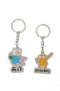Adventure Time Finn And Jake Best Friends Key Chain Set - 113788