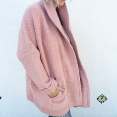 It's Friday... time to kick off your heels and slip into an @inhabitny knit to head out with the girls! This perfectly pink Alpaca Cocoon Coat ($600.00) is our go-to for style and comfort. Call 1.877.342.6474 to get the look! #dianiboutique #inhabit #coat #prettyinpink #friday #celebrate