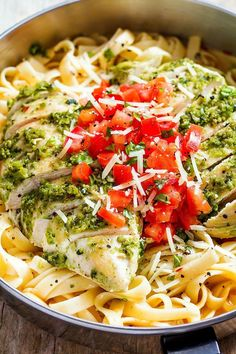 chicken pesto pasta recipe - This #recipe by #eatwell101