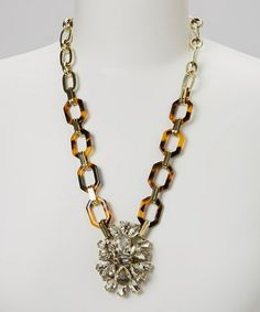 Take a look at this Gold Tortoise Deco Pendant Necklace by Sorta Southern Boutique on #zulily today!