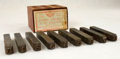 """Millers Falls 3/16"""" Figures Steel Number Punch Stamps Set No. 1550 USA To see the Price and Detailed Description you can find this item in our Category Vintage Tools on eBay: http://stores.ebay.com/tincanalley1/Vintage-Tools-/_i.html?_fsub=19469215018  RD14695"""