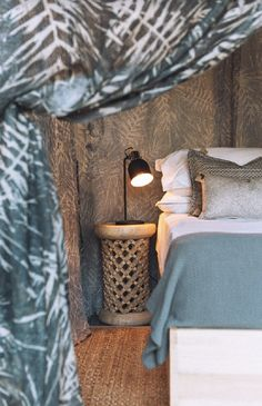 Bamileki bedsides table Safari Decorations, Interior Styling, Interior Design, Curtains With Blinds, Retail Shop, Delft, Rv, Upholstery, Cushions