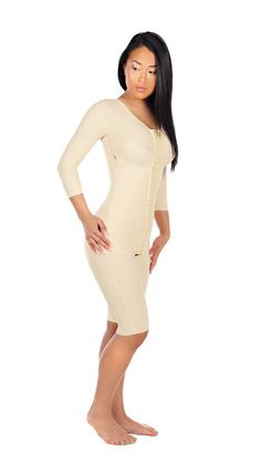 9b885433f8 FTRS/SM | Thigh-Length Bodysuit with 3/4 Sleeves - Marena Comfort Wear  Uses: Upper Body Lift and Liposuction, Abdominoplasty, Mastopexy,  Augmentation and ...