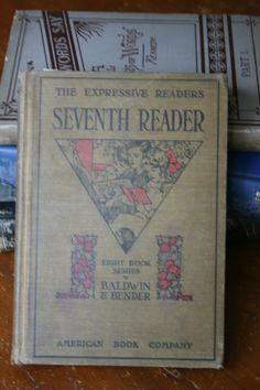 1911 Seventh Reader by James Baldwin Handmade by FaisonBooks, $22.00