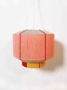 Ana Kras yarn wrapped lamp shades