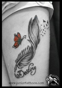 FEATHER PEN WITH BUTTERFLY TATTOO – TATTOOS BANGALORE | ASTRON TATTOOS
