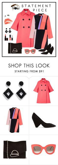 """Roksanda Baby Doll Silk Dress Look"" by romaboots-1 ❤ liked on Polyvore featuring Kenneth Jay Lane, Dorothee Schumacher, Roksanda, Yves Saint Laurent, Proenza Schouler and CÉLINE"