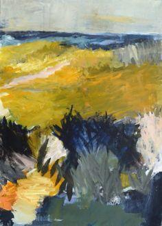 Solgte malerier - helgahallasbjerg.dk Landscape Paintings, Scandinavian, Abstract Art, Artist, Inspiration, Ideas, Watercolor Painting, Nature, Creative