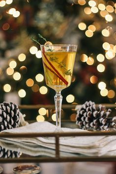 Pear and Thyme Fizz Cocktail Recipe via Baked by Joanna with Cost Plus World Market >> #JoytotheWorldMarket