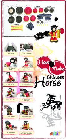 how to make the chinese horse #kokoru #chinese