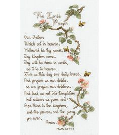 Janlynn The Lord's Prayer Counted Cross Stitch Kit, , hi-res