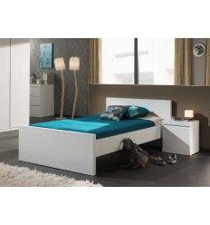 lit blanc laqu trs moderne pour chambre enfant - Lit 120x200