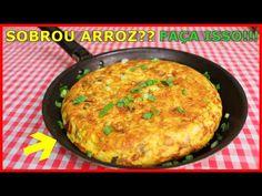 ARROZ COZIDO/VELHO SOBROU??? NÃO JOGUE FORA!!! FAÇA ESSA DELICIA SUPER FÁCIL!!! - YouTube Big Chefs, Food Decoration, Kefir, Sweet And Salty, Salmon Burgers, Finger Foods, Good Food, Food And Drink, Cooking Recipes
