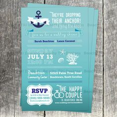 The Navy Starfish Burlap Beach Wedding Collection Postcard
