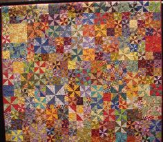 Underneath it all it is your simple pinwheel quilt ...