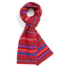 Women's J.crew Fair Isle Wool Scarf ($60) ❤ liked on Polyvore featuring accessories, scarves, poppy hazelnut, woolen scarves, wool scarves, woolen shawl, wool shawl and j crew scarves