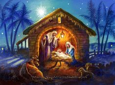 The Nativity ~ Christmas, Religious, Baby Jesus ~ Cross Stitch Pattern Christmas Poems, Christmas Jesus, Twelve Days Of Christmas, Christmas Nativity, Christmas Pictures, Kids Christmas, Nativity Painting, Diy Nativity, Nativity Sets