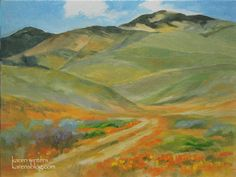 California Wildflower Paintings and Plein Air Paintings by ...