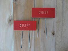 Marqueurs de la plante avec des épingles, Custom Pick, Herb potager signe, marqueurs de bois de cèdre, jardin Stakes, non traitée