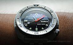 Beautiful Seiko 6309 mod: Black SOXA Sharkhunter