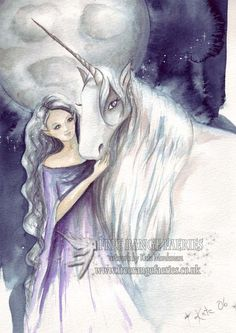 Lighting the Way mini Print/Faerie Print/Fairy Art/Unicorn/Gothic/Magical/Fantasy/Faerie art/Moonlit/Healing/Spiritual/ Art Print by Freerangefaeries on Etsy