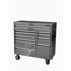 Shop Kobalt 41-in x 41-in 11-Drawer Ball-Bearing Stainless Steel Tool Cabinet at Lowes.com