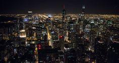Beautiful night time Chicago!