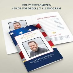 Military Funeral Program Brochure Memorial Service customized for your veteran. Perfect for a memorial service, celebration of life or funeral service. #militaryfuneral #funeralinvitation #celebrationoflife #soliderfuneral #veteranfuneral #memorial service #funeralprogram #funeralprograms