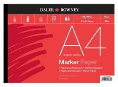 Rowney A4 140lb Langton Gummed Sheet Pad Fashionable And Attractive Packages Daler Art Supplies