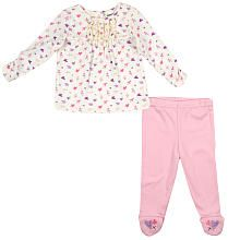 Babies R Us Girls Floral 2 Piece Footed Set - Ivory (0-3 Months)