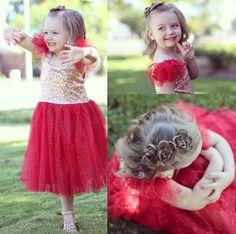 Flower braids and a sparkly dress