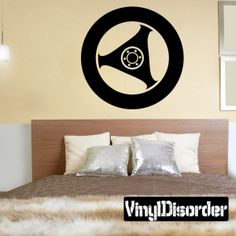 Tire Rim Wall Decal - Vinyl Decal - Car Decal - DC007