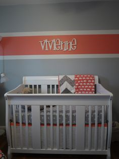 Vivienne - this spelling is really growing on me, and I love the coral/grey combo.