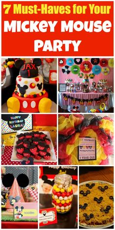 7 must-have ideas for your Mickey Mouse birthday party! See more party ideas at CatchMyParty.com.