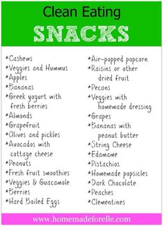 clean eating snacks- use almond butter or natural pb, no cheese, no dairy